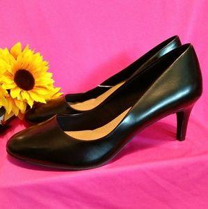 New Black Comfort Heels Size 12 Wide